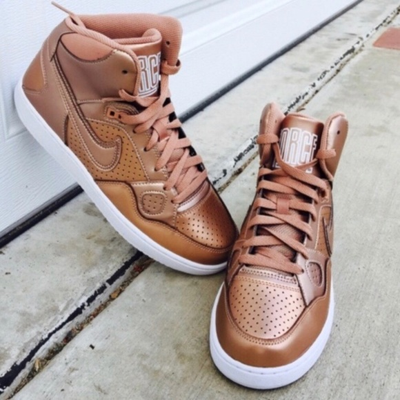 f1d0a7c53fd Nike Son of Force Rose Gold Metallic Bronze AF1